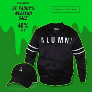 Alumni Clothing St. Paddy's Weekend Sale! www.Tha-Alumni.com