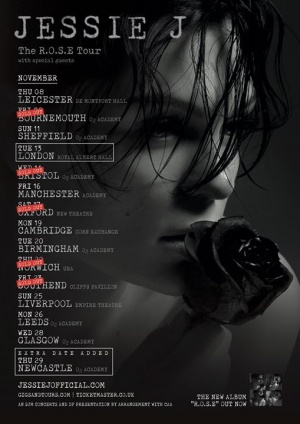 NEWCASTLE NOW ADDED! Tickets available 9AM Friday 13th July plus Bournemouth, Bristol, Oxford, Norwich and Southend are SOLD OUT! Thank YOU for always supporting me. Get tickets before it's too late at JessieJOfficial.com ❤️