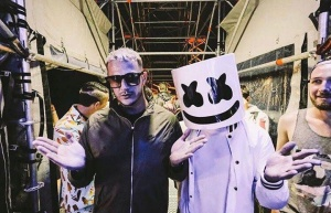 Summer vibes with my brother Marshmello