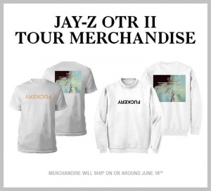 #OTR2 merch available now jay-z.co/OTR2merch