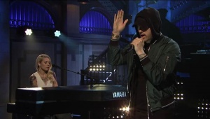 Saturday Night Live last night with Eminem singing #WalkOnWater #Stan and #LovetheWayYouLie was an epic experience...❤️  WATCH:: https://youtu.be/_H1vcldAsP0