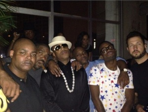 The Crew: @itsseanc @lvizual @rockstarmvp @iammariowinans my brother Mata & Uncle Harve Pierre! #FamilyForLife