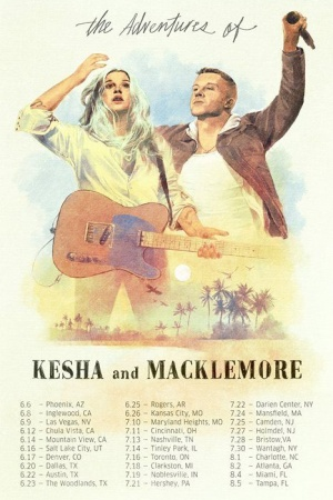 Get in line for the Adventures of Kesha & Macklemore tour pre-sale. Listen to Good Old Days, watch the video, share and more to move up in line for first crack at tickets. You can even donate to our favorite charities to move even further up in line… Appr