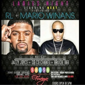Tonight, I want all my fans in the #Bronx to come out and support me and #RL of #Next at Salsa Con Fuego for #LadiesNight! Let's go!! #nyc #bx #randb #music #mariowinans #mwi #mw