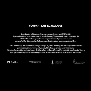 Introducing the #FormationScholars http://www.beyonce.com/formation-scholars/