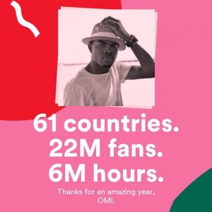 And we're just getting ready for 2️⃣0️⃣1️⃣8️⃣ Thank you Spotify and my amazing fans for always supporting
