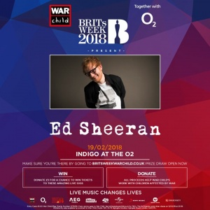 Prize draw for my #BRITSweek show at the Indigo O2 closes at midnight tonight (uk time). Donate £5 to War Child UK to enter https://ad.gt/britsweek