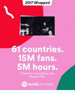 Thank you @spotify for wrapping up 2017 nicely... more music more blessings in 2018