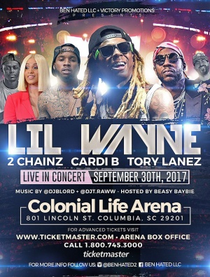 Sept 30 colonial Life Arena in Columbia, SC https://t.co/fMAopxyMy2