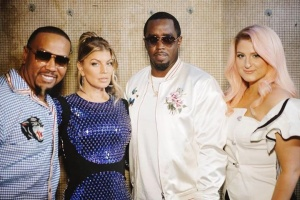 ‪Flashback to the #TheFour with Diddy Fergie & Meghan Trainor #TBT‬