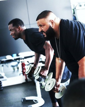 Sometimes you have to enjoy the pain!!! This is brothers pushing each other to greatness!! DJ Khaled