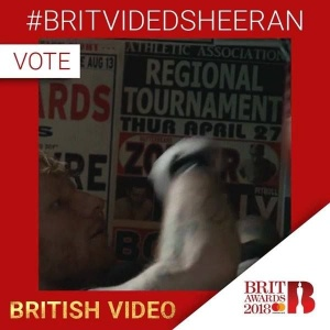 I'm up for best video at the BRIT Awards this year & its the final round of voting - if you want to help me win this award then tweet #BRITVIDEDSHEERAN (one vote per account) x