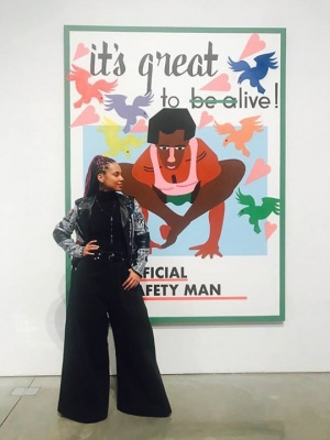 Congratulations to my homie the AMAZING Nina Chanel Abney for showing AND selling out Jack Shainman Gallery and Mary Boone Gallery on Thursday night!!!!! The Dean Collection are proud collectors of this magnificent spirit!!! Shine on Nina!!!!