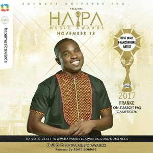 #GPRepost #reposter  @hapamusicawards via ------------------ @hapamusicawards presents the #BestMaleFrancophonArtistoftheyear 2017 @frankoofficiel #hapamusicawards2017 #africaunite #franko  To vote please visit our website www.hapamusicawards.com