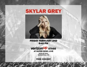 Hey Minneapolis! I'll be playing a FREE show at the #VZUp Stage at Super Bowl Live in Nicollet Mall tonight at 8:45!! Verizon