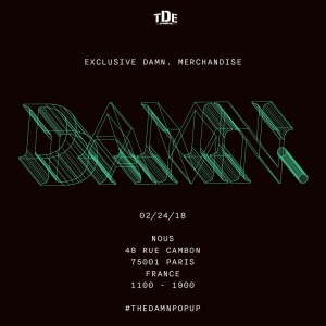 #THEDAMNPOPUP SAT 02/24 PARIS, FRANCE | NOUS | 48 ROU CAMBON, 75001 PARIS, FRANCE https://t.co/Ze6lDvlFIl