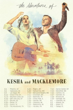 Can't wait to hit the road with Kesha this summer. Tour starts June 6th! Tickets available at macklemore.com/shows.