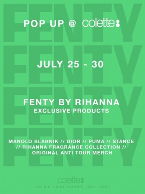 Parisian navy! SO excited to share my pop up shop w/ you @coletteparis! New #ANTIWORLDTOUR merch & all things #FENTY https://t.co/oxIORusK9q