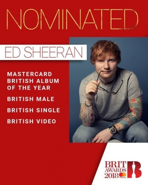 Thanks for all my Brit award nominations, and well done to all the other nominees. All very exciting, see you at the ceremony xx