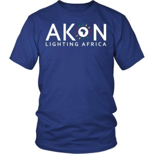 ‪Show your support! We Ship Worldwide!  - https://akonstore.com/collections/mens/products/unisex-lighting-africa-t-shirt?variant=47871738887