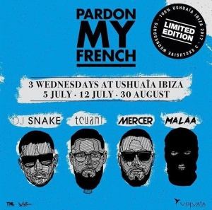 "I'm so excited for ""Pardon My French"" IBIZA"