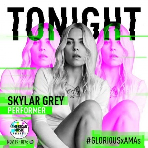 Tune into the @amas tonight to catch @macklemore and I performing #Glorious! #AMAs https://t.co/JyAzo1KbIw