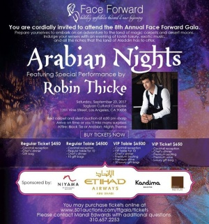 Honored to be performing Sept. 23rd at the Face Forward, Inc. Arabian Nights Gala supporting survivors of domestic violence and human trafficking. Grab your tickets now to join this amazing cause: www.501auctions.com/ffgala/tickets