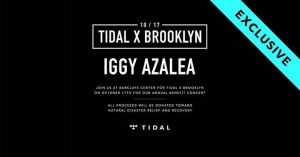 See you on 10/17 at #TIDALXBrooklyn. Let's continue to support those devastated by natural disasters. Get tickets: TIDAL.com/Brooklyn