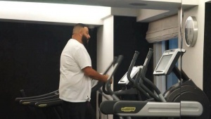 #FANLUV! I'm up early getting my workout in