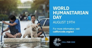 Let's support people affected by Natural Disasters with #CallforCode and use technology for good on #WorldHumanitarianDay. Show your support for United Nations Human Rights & American Red Cross in their efforts to help the most vulnerable among us. To get