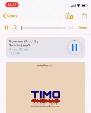 Governor By @timorokcity now up on @soundcloud Link in bio.