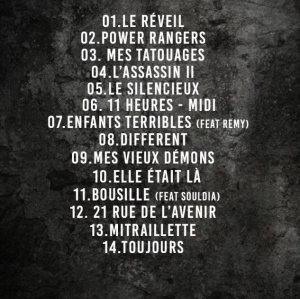 Tracklist officielle !!