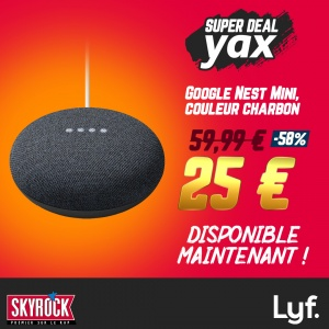 SUPER DEAL YAX : TA GOOGLE NEST MINI À 25€ !