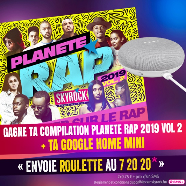 La Roulette - Compil Planète Rap 2019 Vol. 2 + Google Home Mini