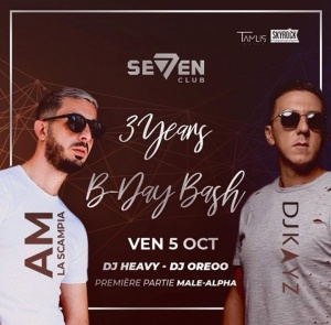 Tonight au club SEVEN à la Louviere