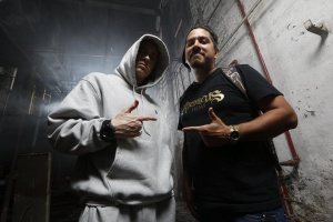 """I wanted to show the fans that we were inside the mind of a lyrical maniacal genius."" - Danny Hastings - check his #SSLP20 interview on the site - http://shady.sr/SSLP20SignupFp  (Photo from Bad Meets Evil shoot)"