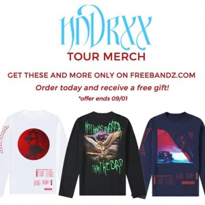 Order new HNDRXX merch today and receive a FREE gift! - www.freebandz.com/shop