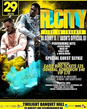 Dec 29th x Toronto x Rock City x @bennydemus