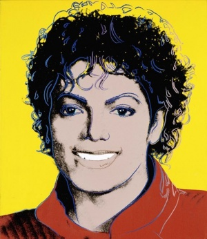 TIME Magazine commissioned Andy Warhol to paint a portrait for its March, 1984 cover story on Michael Jackson. That portrait of Michael now hangs in the National Portrait Gallery, part of the Smithsonian Institution, in Washington, DC. It is one of the mo