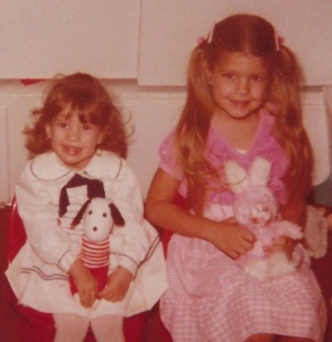 My sis Dana & I learned the importance of accessorizing from a young age