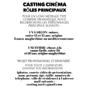 ⚠️CASTING FILM⚠️ #LongMétrage  On cherche des têtes! URGENT! https://t.co/hK6APUt1nj