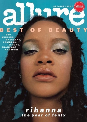 Excited to reveal the cover of this month's Allure to celebrate FentyBeauty's #AllureBestofBeauty Breakthrough Award win! http://ri-hanna.io/allure2018  Photographer: @nadineijewere Stylist: @illjahjah Hair: @yusefhairnyc  Makeup: @priscillaono Manicure: